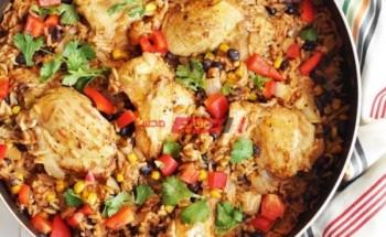 طريقة عمل الأرز المكسيكي بالدجاج