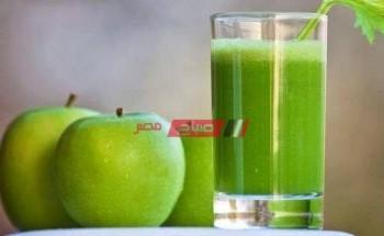 طريقة عمل مشروب التفاح الاخضر لسد الشهية وحرق الدهون