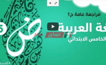 فيديو مراجعة عامة   الصف الخامس الابتدائي   اللغة العربية