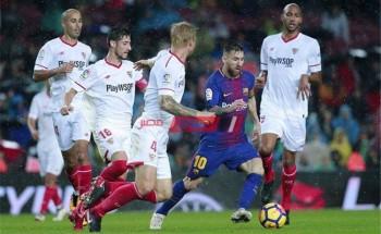 نتيجة وملخص مباراة برشلونة وإشبيلية