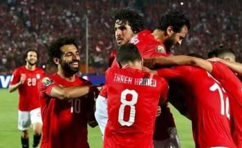 منتخب مصر بالزي الرسمي أمام جزر القمر