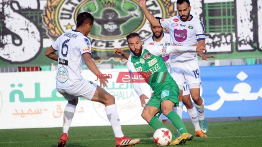 نتيجة وملخص مباراة الرجاء الرياضي ويوسفية برشيد الدوري المغربي