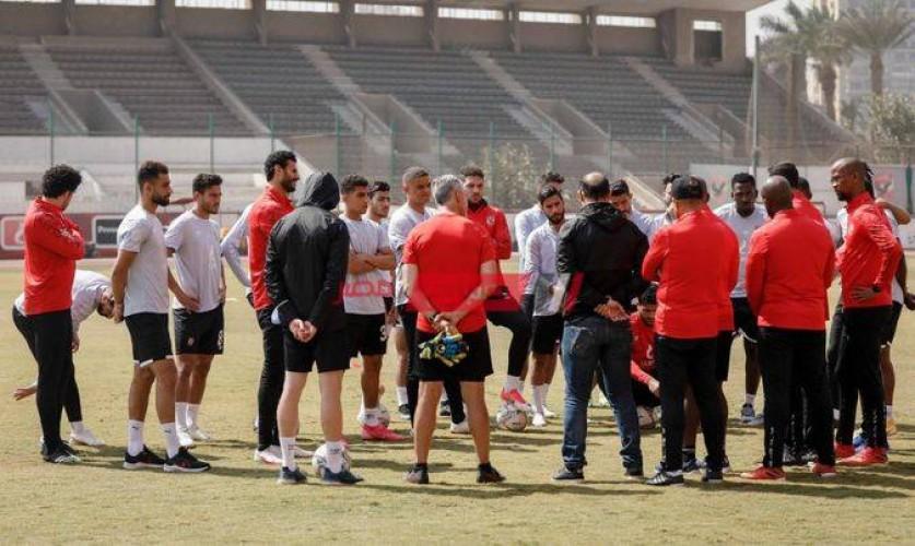 موسيماني يعاتب لاعبي الأهلي في المران الجماعي