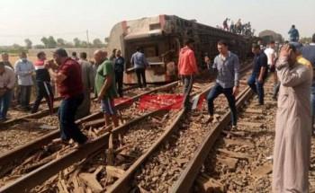 ارتفاع عدد ضحايا خروج قطار طوخ عن القضبان إلي 103 شخص حتى الآن