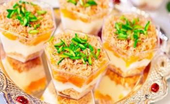 طريقة عمل حلو الكنافة بمهلبية قمر الدين في شهر رمضان الكريم 2021