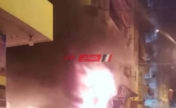 اندلاع النيران داخل مخزن ورق بمحافظة الإسكندرية