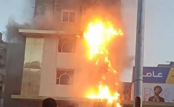 نشوب حريق داخل منزل في قرية الشعراء بدمياط .. صورة