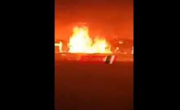 بالفيديو اخماد حريق هائل نشب في مزرعة دواجن بدمياط دون وفيات