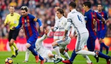 نتيجة مباراة برشلونة وريال مدريد الدوري الاسباني