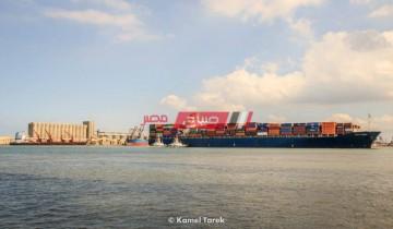 تداول 28 سفينة عبر ميناء دمياط وتصدير 1370 طن أسمنت و349 طن كحول