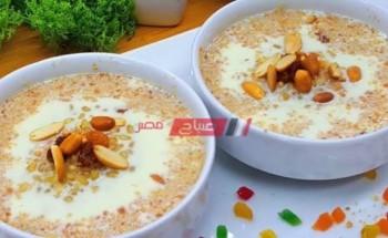 طريقة عمل البليله بالكنافة من قائمة الحلويات بعد الإفطار في رمضان الكريم 2021