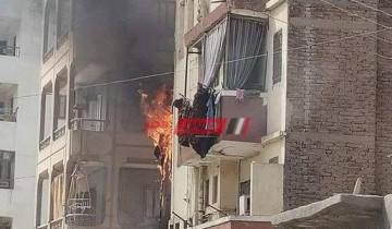السيطرة على حريق نشب في شقة سكنية بدمياط دون اصابات