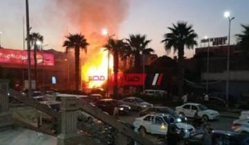 اندلاع حريق بالقرب من حرم السكة الحديد بمنطقة المنتزه في الإسكندرية