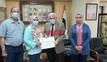 تعليم الإسكندرية يكرم الدكتورة رباب فاروق مسئول الدمج بالمديرية