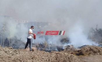 السيطرة على حريق مخلفات أرض زراعية فى دمياط دون خسائر بشرية