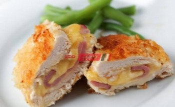 طريقة عمل كوردن بلو بالزبادي والروست بيف والتركي والجبن الشيدر بطريقة سهلة وبسيطة