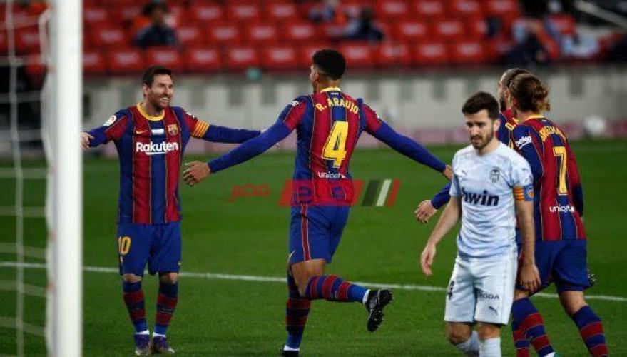نتيجة وملخص مباراة برشلونة وفالنسيا الدوري الاسباني