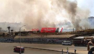 بالصور نشوب حريق في أرض شركة النحاس المصرية بمحافظة الإسكندرية