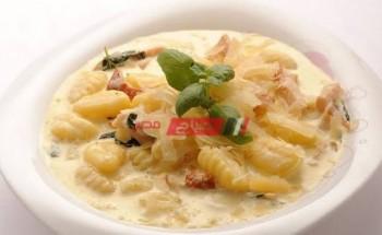 طريقة عمل نيوكي باستا بالزبدة وكريمة الليمون بطعم شهي ولذيذ