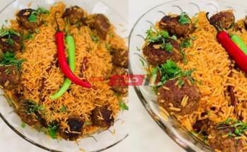 طريقة عمل الكبسة بكرات الكفتة بطعم جديد ومختلف على طريقة الشيف فاطمة ابو حاتى