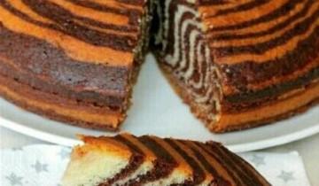 طريقة عمل الكيكة الرخامية بشكل رائع ومميز