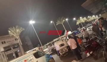 إصابة مسن وطفل بجروح في حادث سير مروع بطريق الشعراء في دمياط