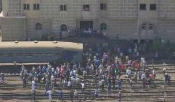 إصابة 40 شخص في حادث قطار الإسكندرية ولا وفيات
