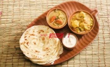 طريقة عمل خبز البراتا الهندى بخطوات سريعة على طريقة الشيف فاطمة ابو حاتى