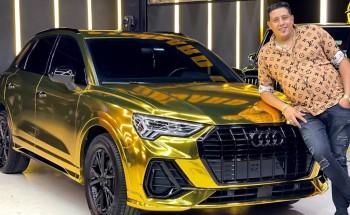 بالصور محمد عثمان GO stores يكشف حقيقة سيارة حمو بيكا الذهبية عيار 24