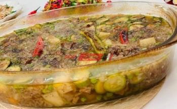طريقة عمل طاجن تورلى بمكعبات اللحم والبصل المكرمل على طريقة الشيف فاطمة ابو حاتى
