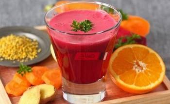 طريقة عمل عصير البرتقال بالجزر والبنجر على طريقة الشيف فاطمة ابو حاتى