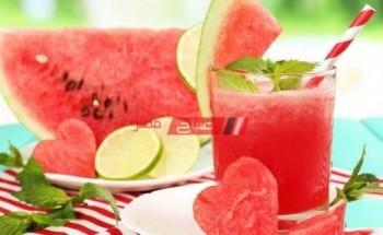 طريقة عمل عصير البطيخ بأوراق النعناع بالطريقة المكسيكية على طريقة الشيف سارة عبد السلام