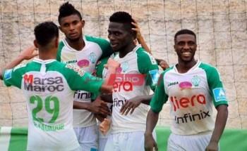 نتيجة الرجاء والدفاع الحسني الجديدي الدوري المغربي