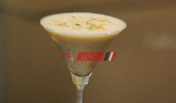 طريقة عمل مشروب التمر بلبن جوز الهند والأيس كريم والمكسرات علي طريقة الشيف شريف الحطيبي