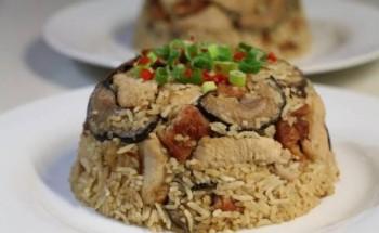 طريقة عمل طاجن مقلوبة الباذنجان باللحم بطعم شهي ولذيذ