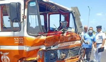 تفاصيل إصابة 36 مواطن في حادث تصادم أتوبيسين بمحافظة الإسكندرية