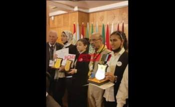 الجامعة العربية تكرم طالبتان من دمياط لتفوقهما في مسابقات الإلقاء والرسم