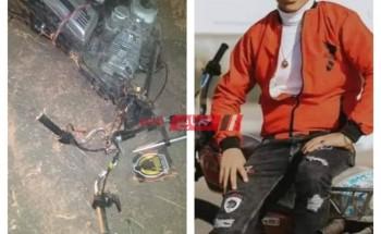 ننشر صورة شاب لقي مصرعه اثر حادث دراجة بخارية على طريق رأس البر