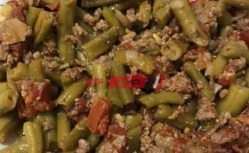 طريقة عمل الفاصوليا الخضراء باللحمة المفرومة وزيت الزيتون علي طريقة الشيف غادة جميل