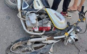 إصابة شخصين فى حادث تصادم بين دراجتين بخارتين على طريق بورسعيد بدمياط