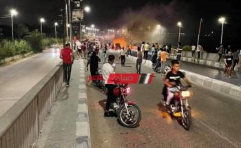 النيران تلتهم سيارة ملاكي على طريق رأس البر دون وقوع إصابات