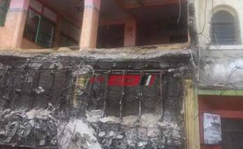 سقوط سقف صالة مطعم شهير بمنطقة بحري في الإسكندرية