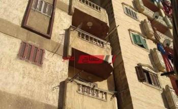 إخلاء عقار مائل من السكان بمنطقة الفلكي في محافظة الإسكندرية