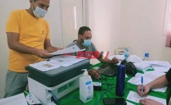 بدء تطعيم العاملين في شركة مياة الشرب بدمياط وأسرهم بلقاح فيروس كورونا المستجد