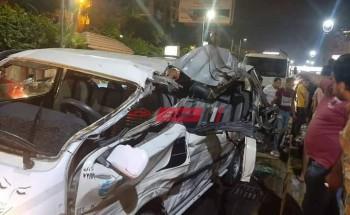 إصابة 7 مواطنين في حادث تصادم سيارة نقل وميكروباص في الإسكندرية