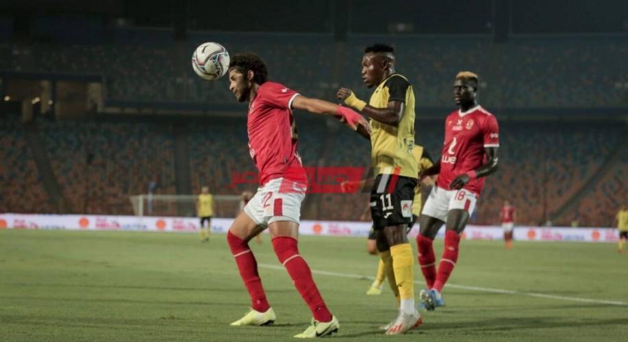 نتيجة مباراة الأهلي ووادي دجلة الدوري المصري