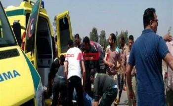 تفاصيل إصابة 5 مواطنين في حادث تصادم 4 سيارات بسيارة نقل بمحافظة الإسكندرية