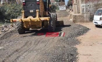 محلية دمياط تعلن بدء أعمال رصف وتطوير طريق المقابر في البصارطة
