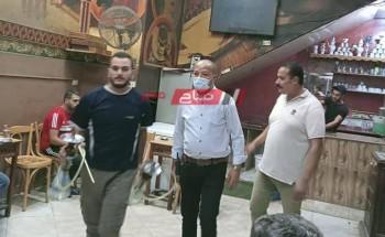 ضبط مقهى يقدم الشيشة بالمخالفة للقانون في حملة إشغالات بدمياط