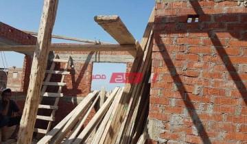 ايقاف اعمال بناء طابق مخالف في دمياط